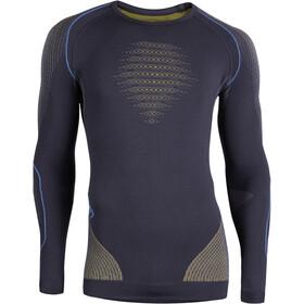 UYN M's Evolutyon UW LS Shirt Charcoal/Gold/Atlantic